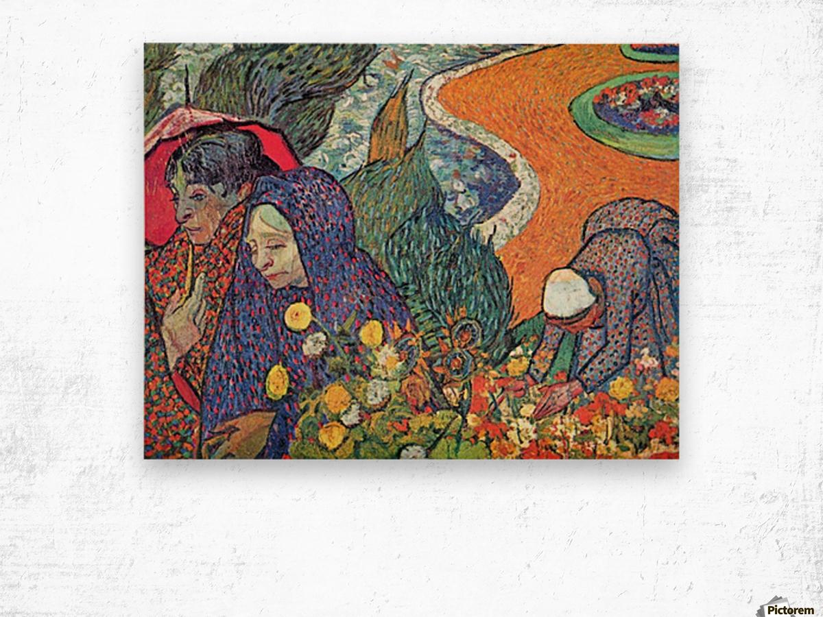 Promenade in Arles by Van Gogh Wood print