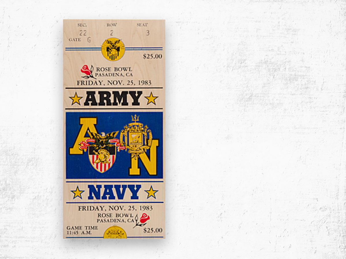 1983 Army vs. Navy Wood print