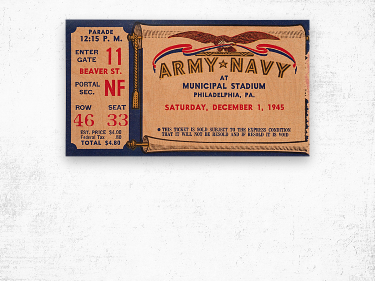 1945 Army Navy Game of the Century Wood print