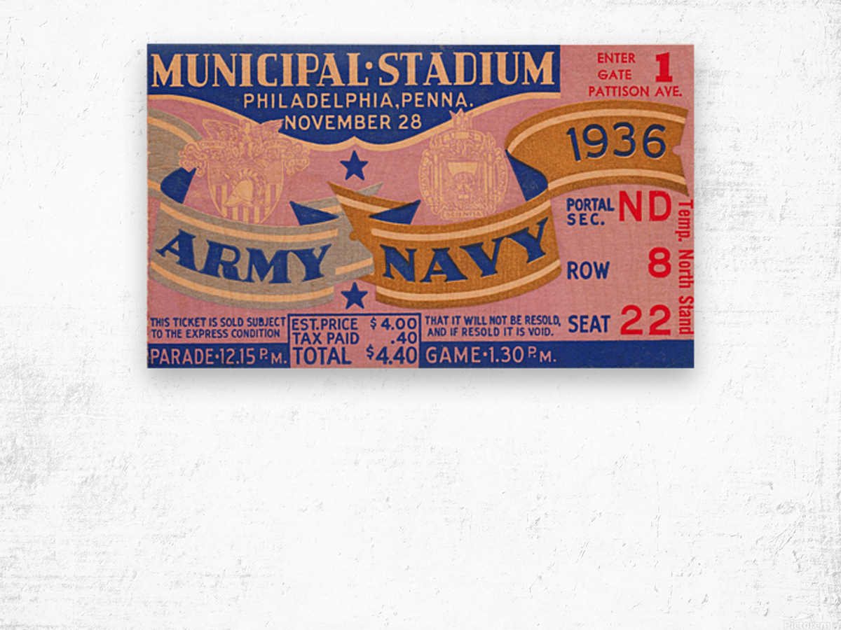 1936 Army Navy Game Wood print