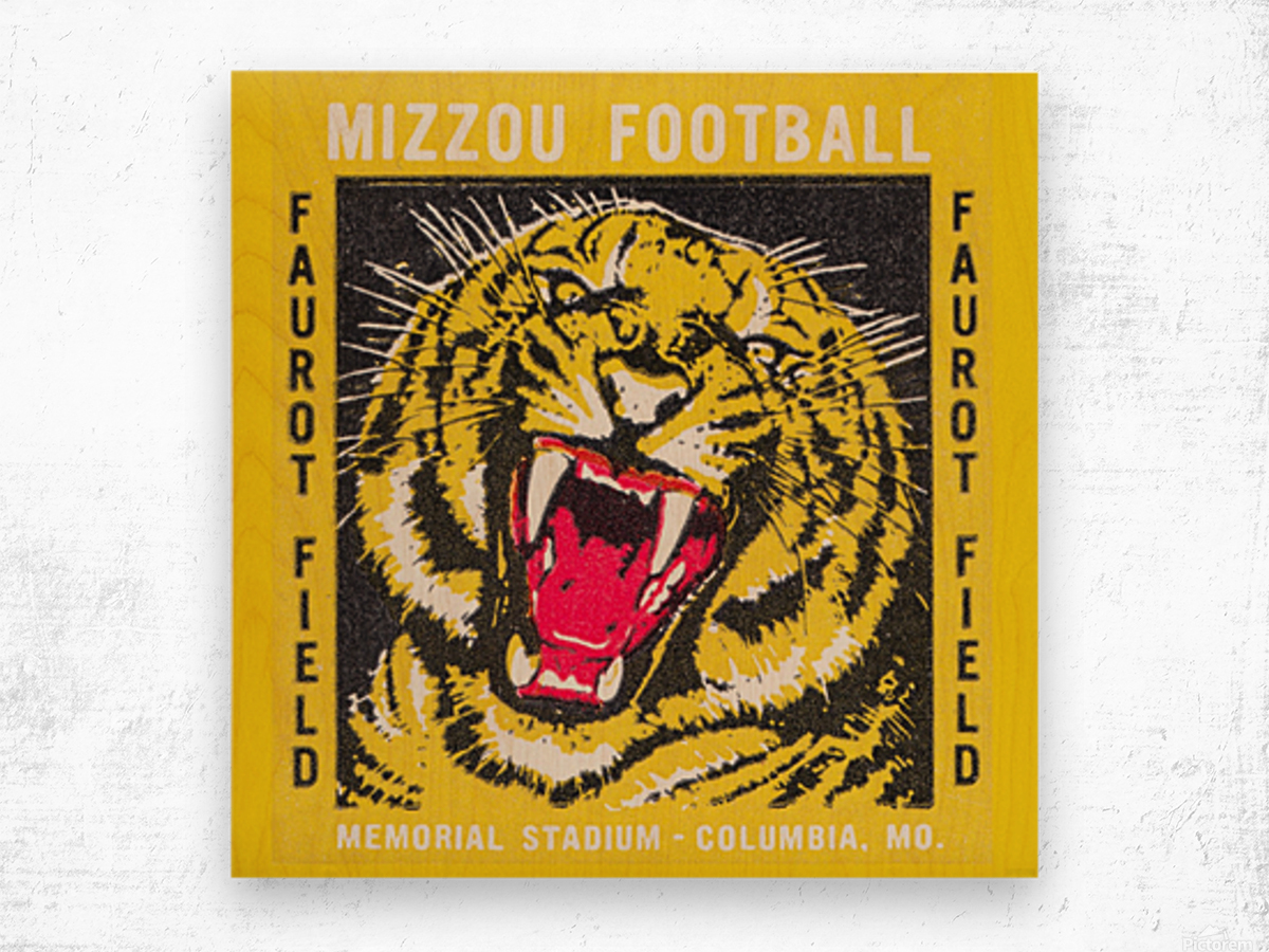 1977 Mizzou Football Wood print
