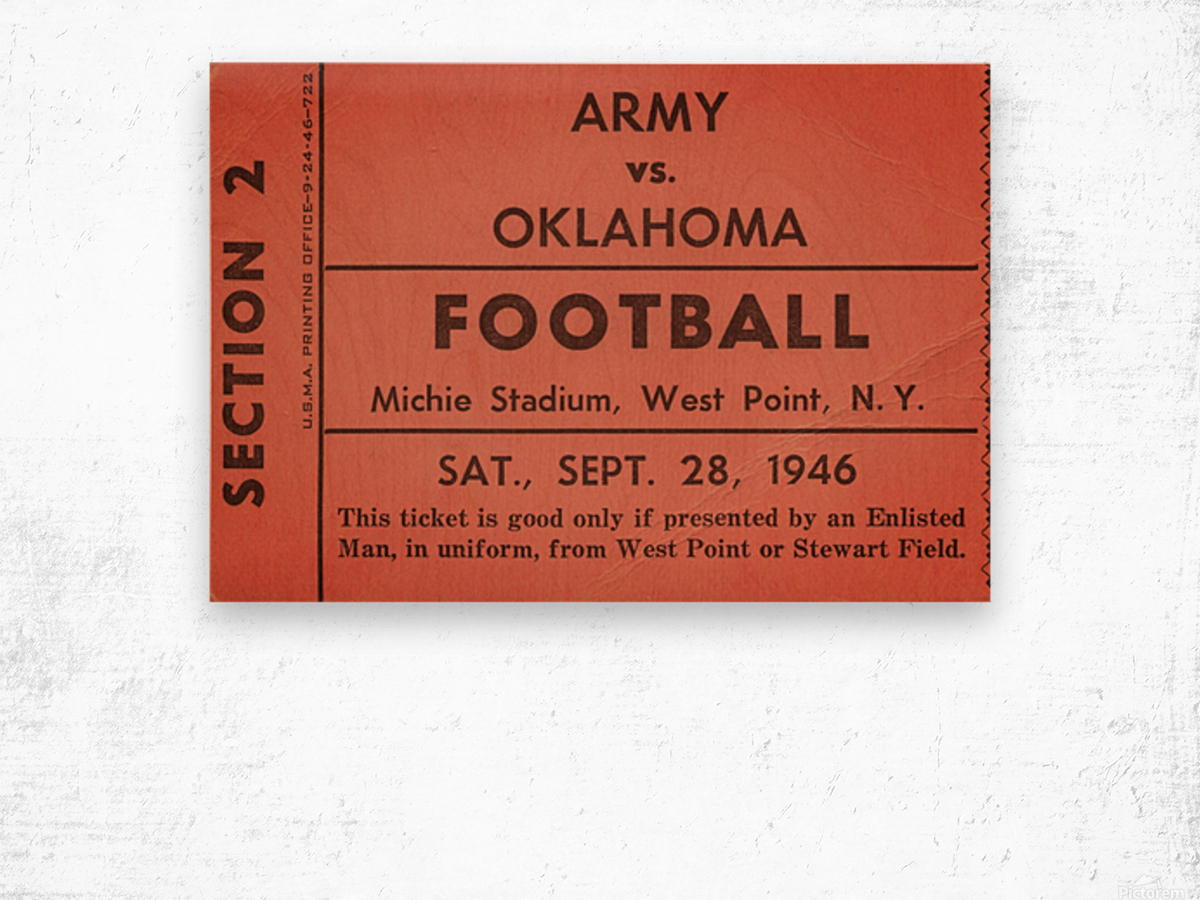1946 Army vs. Oklahoma Wood print