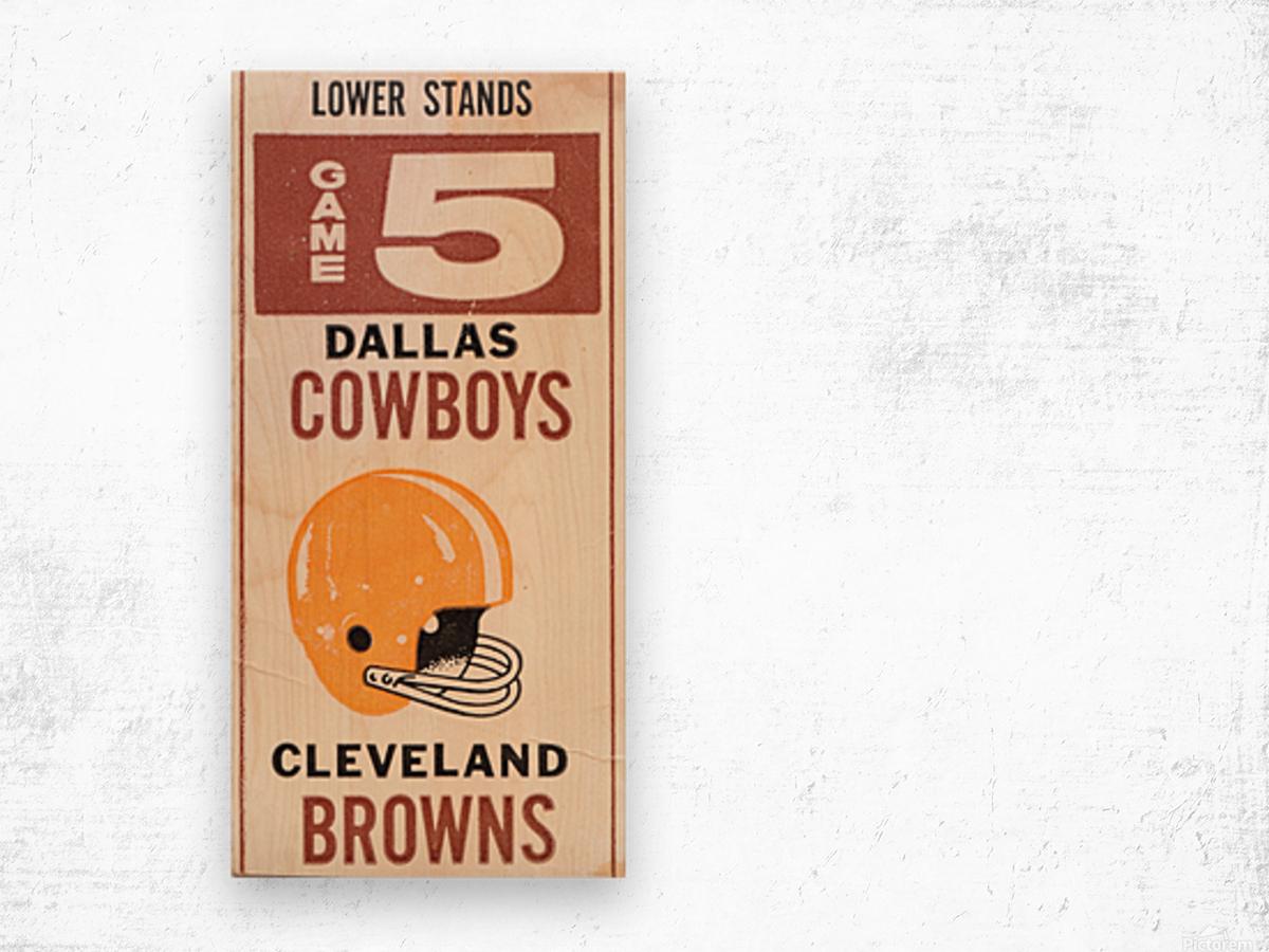 1969 Cleveland Browns vs. Dallas Cowboys Wood print