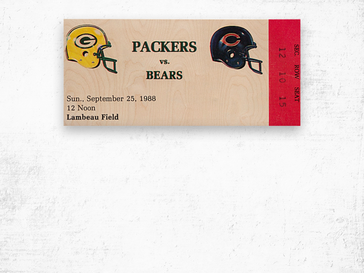 1988 Green Bay Packers vs. Chicago Wood print