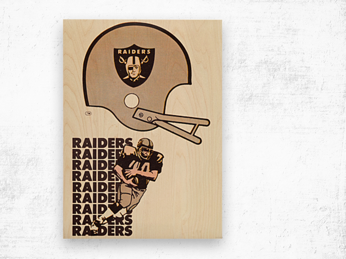 1976 Oakland Raiders Art Wood print