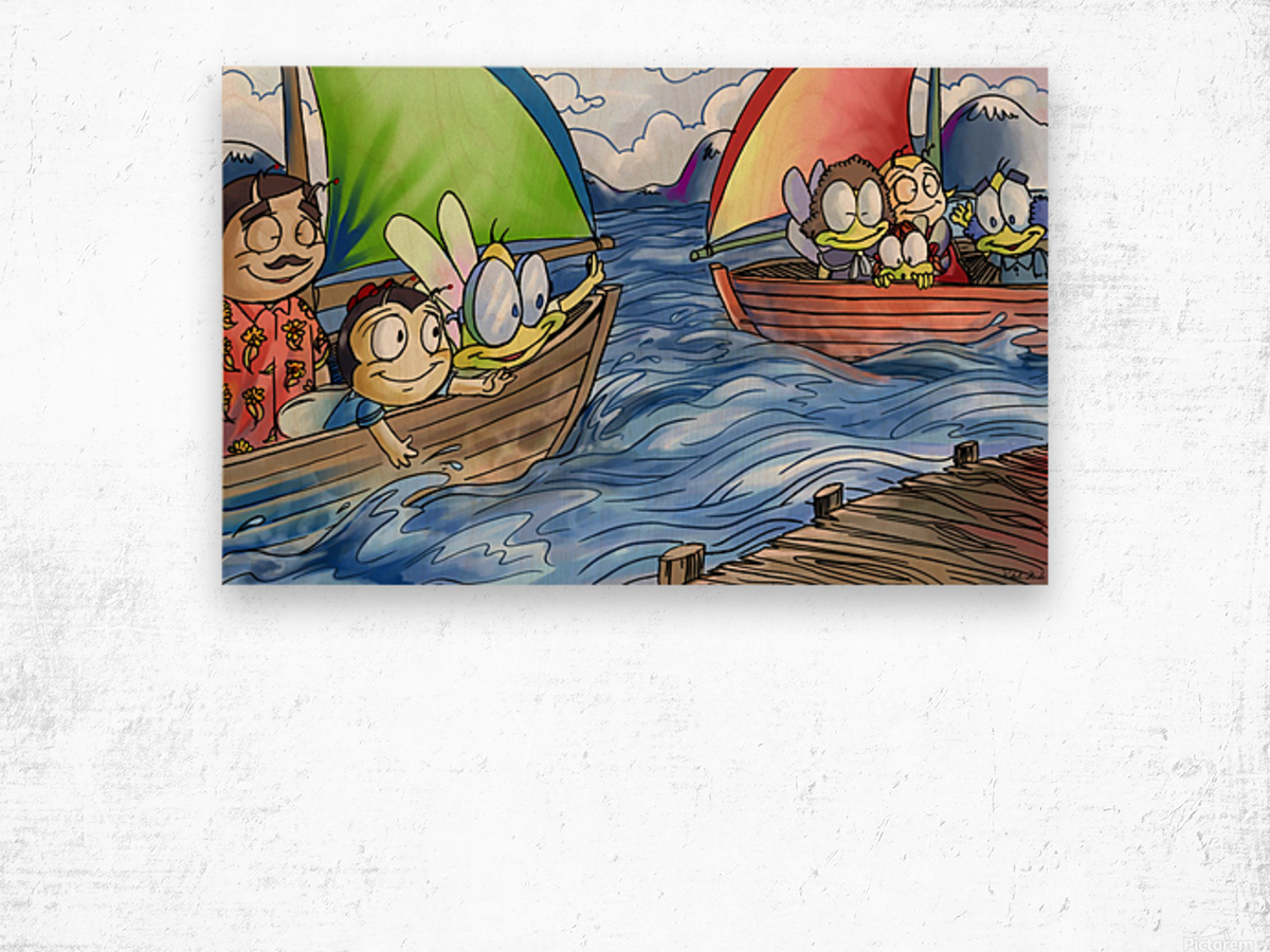 A Dream of Summer - Boats Wood print