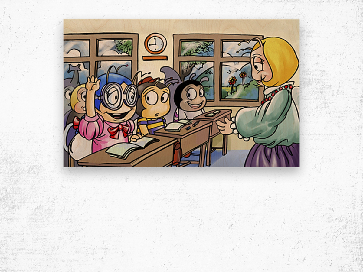 School Days - Classroom Wood print