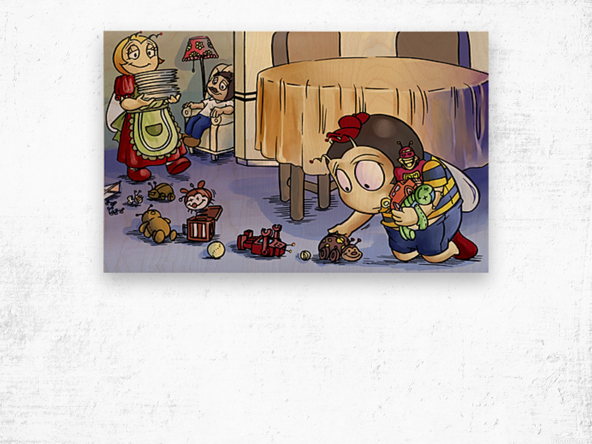 Toy Parade - Bugville Critters Wood print