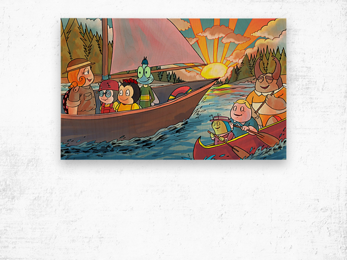 Summer Camp - Sailing - Bugville Critters Wood print