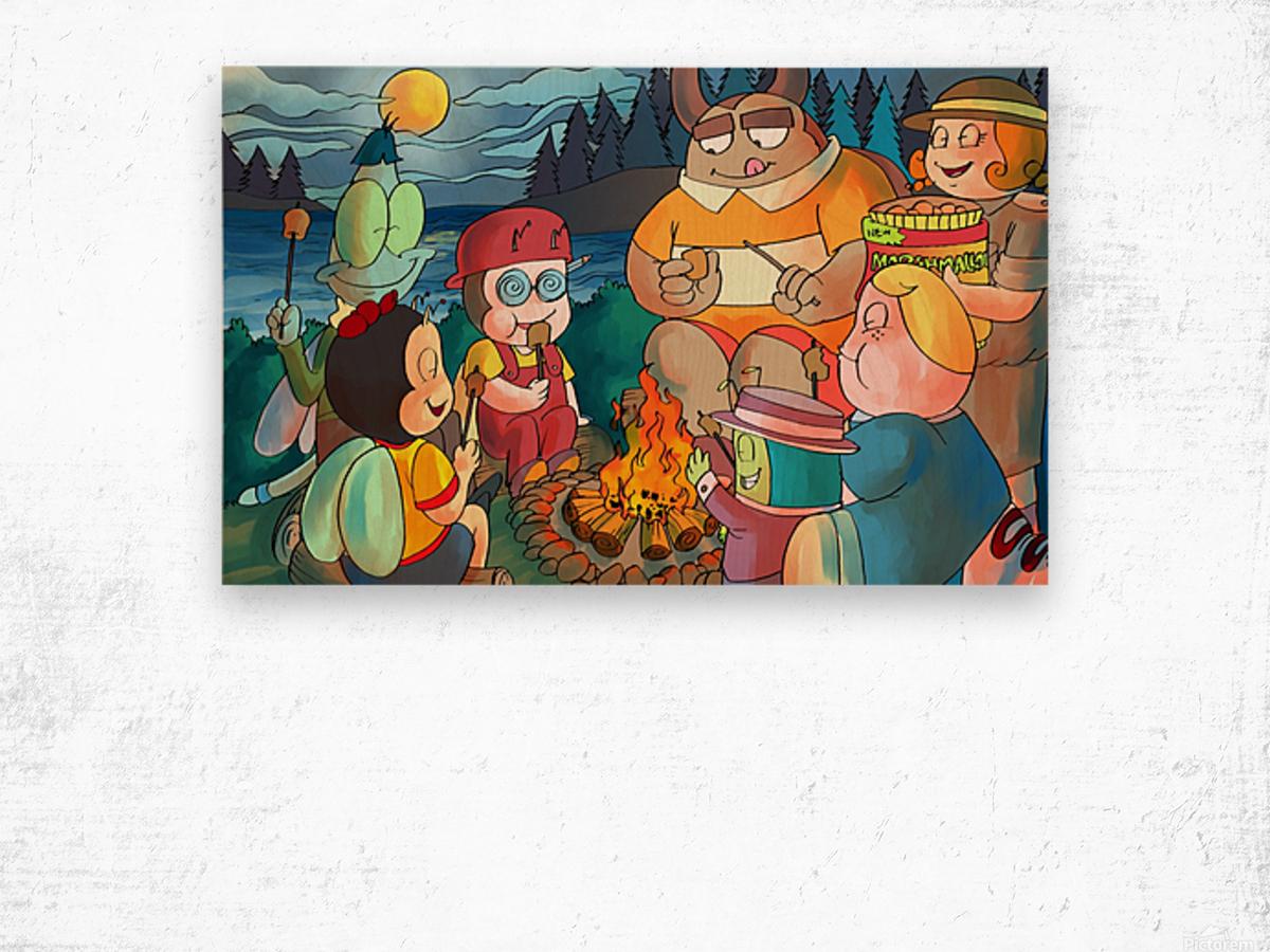 Summer Camp - Bonfire Wood print