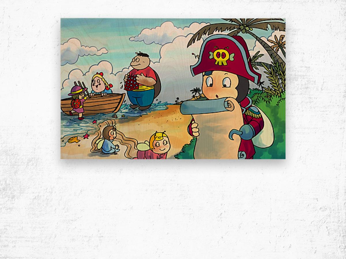 Treasure map Wood print