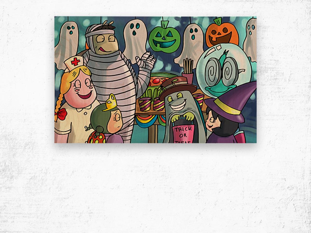 Halloween Party Wood print