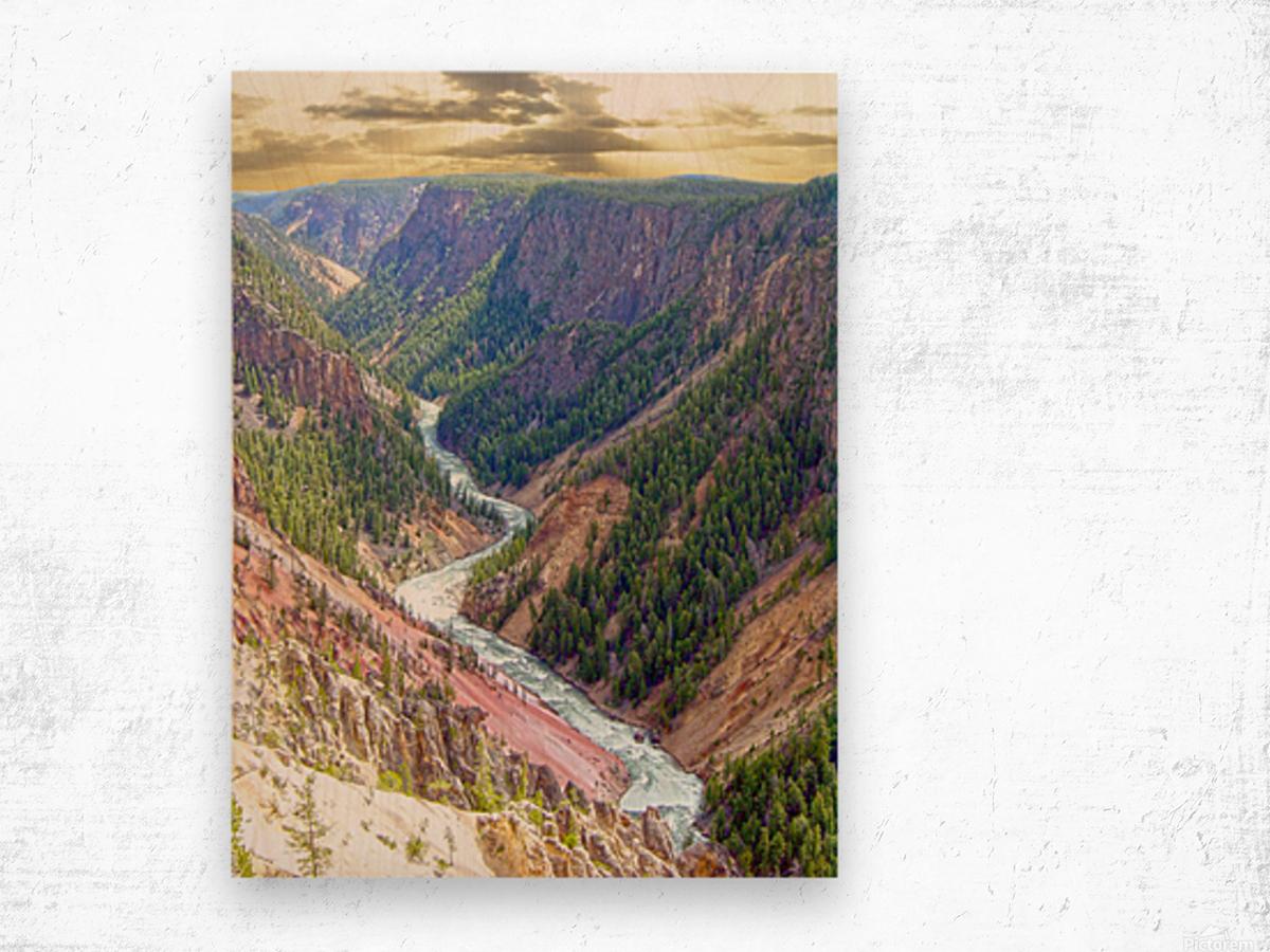 Mighty Yellowstone 2 - Yellowstone River - Yellowstone National Park Wood print
