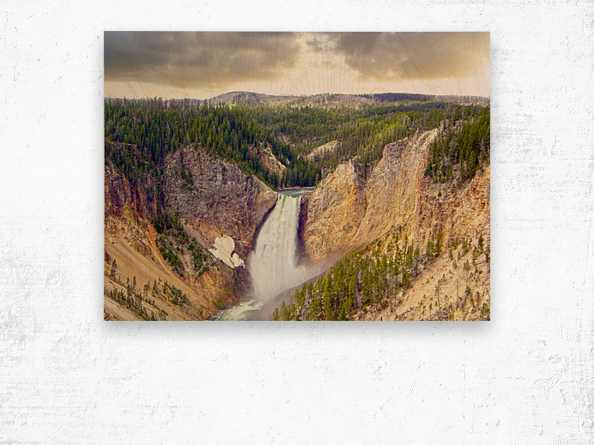 Mighty Yellowstone Wood print
