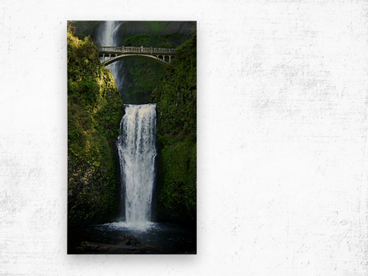 Multnomah Waterfalls Oregon Wood print
