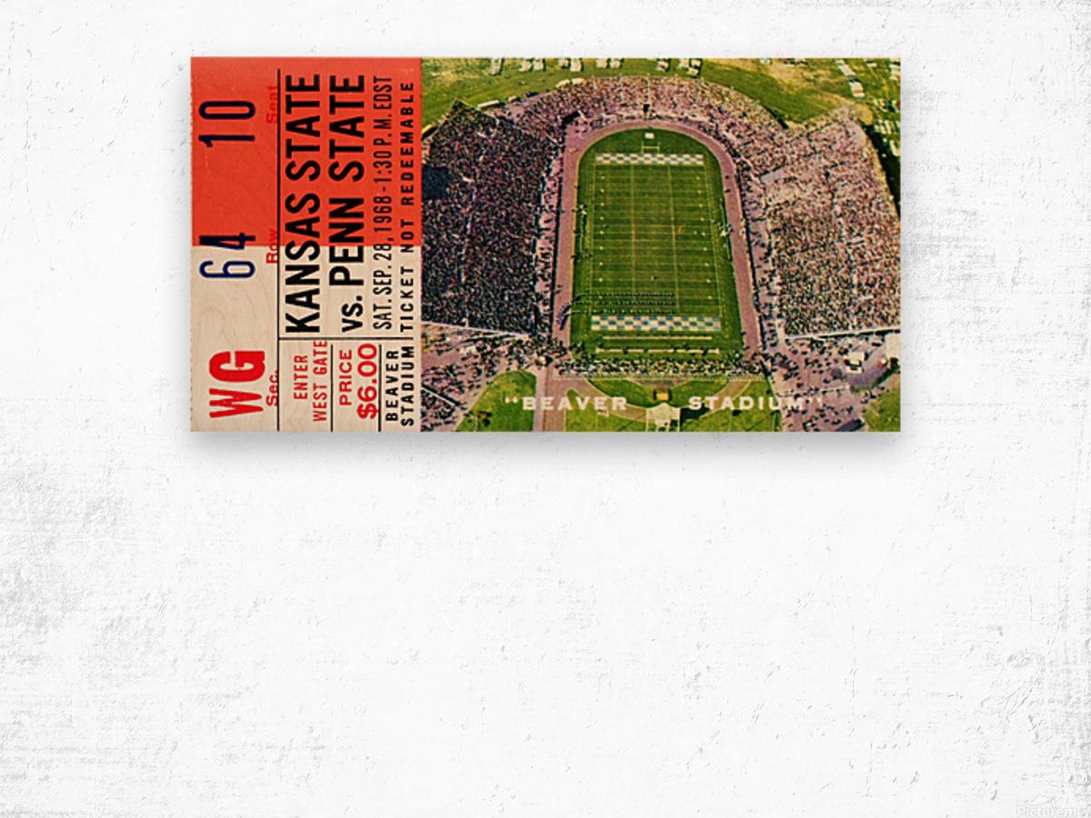 1968 Penn State vs. Kansas State Wood print