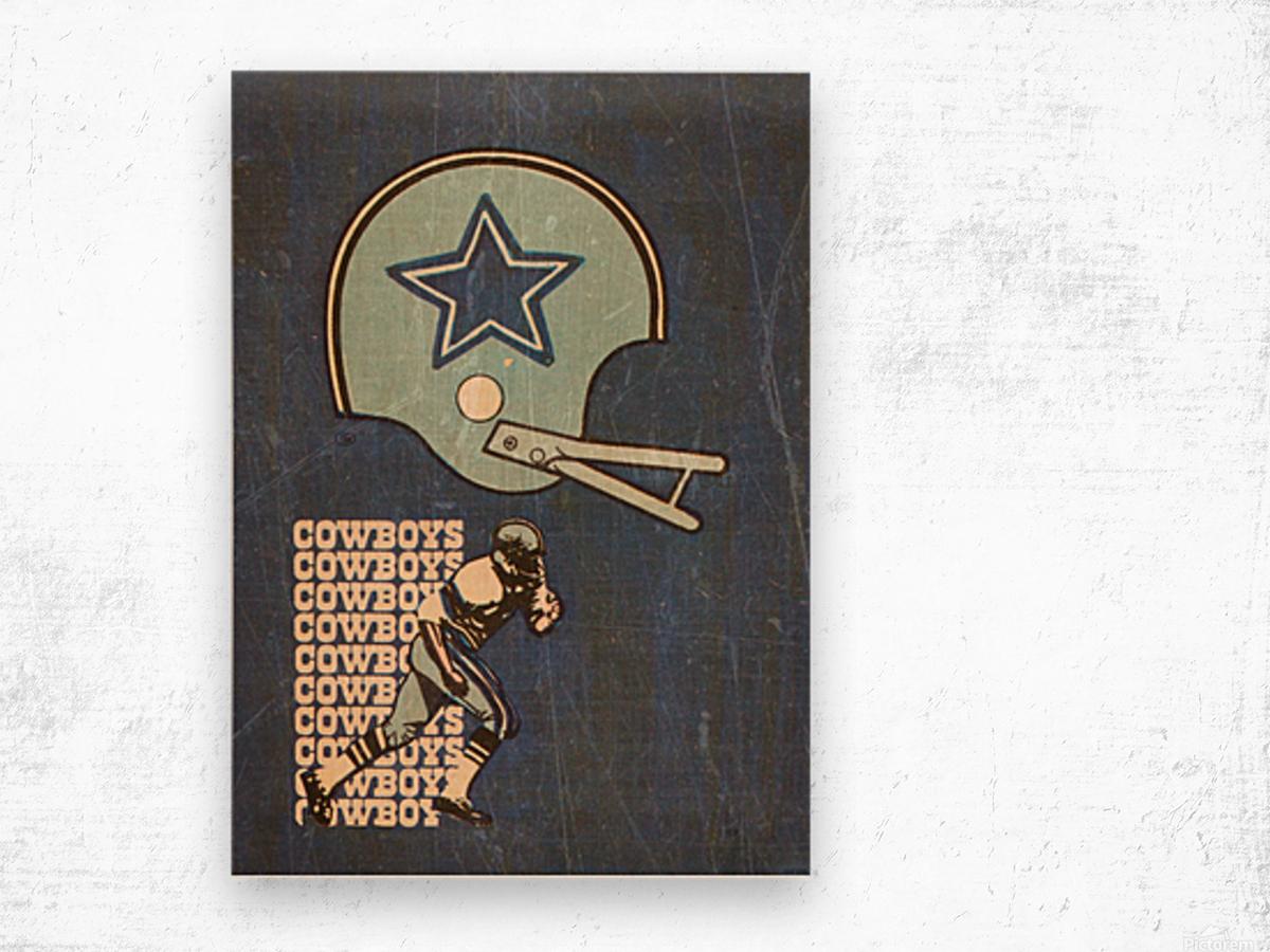 1976 Dallas Cowboys Wall Art Wood print