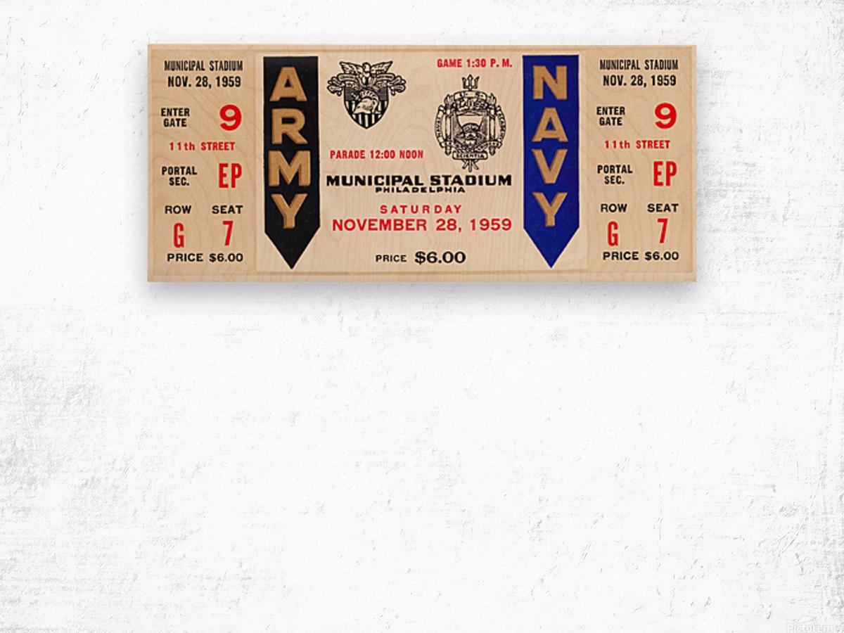 1959 Army Navy Game Ticket Wood print