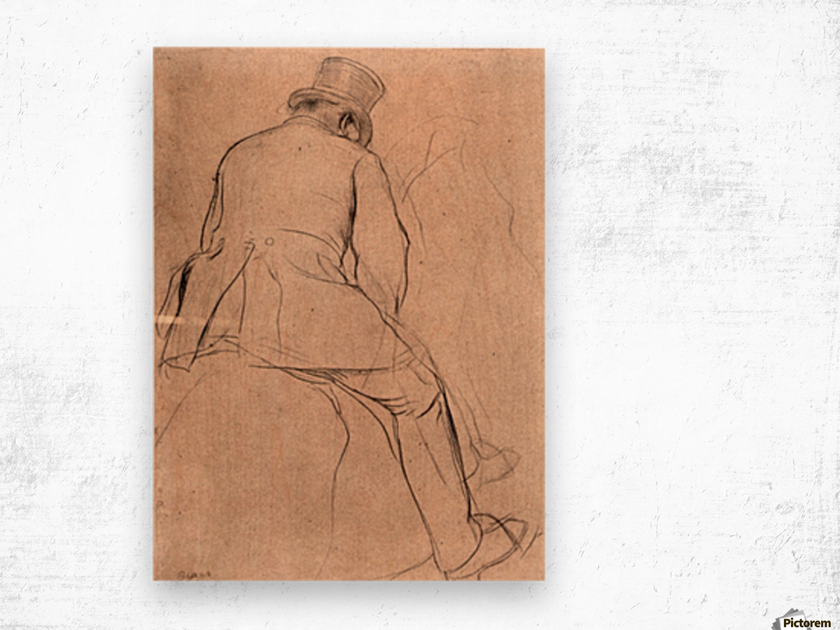 Rider by Degas Wood print