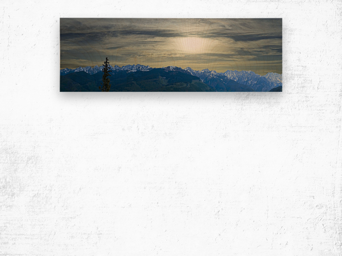 Hike Colorado Wood print