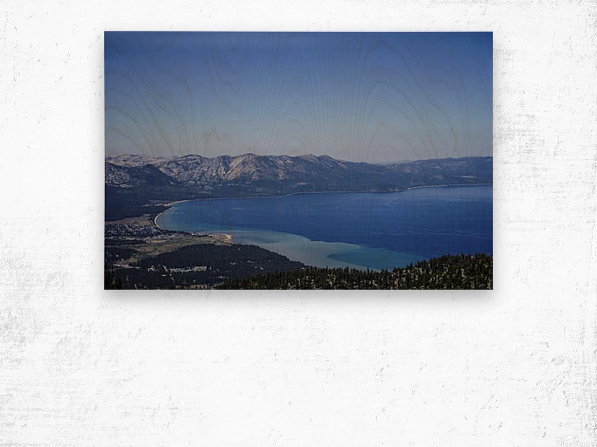 Lake Tahoe View Wood print