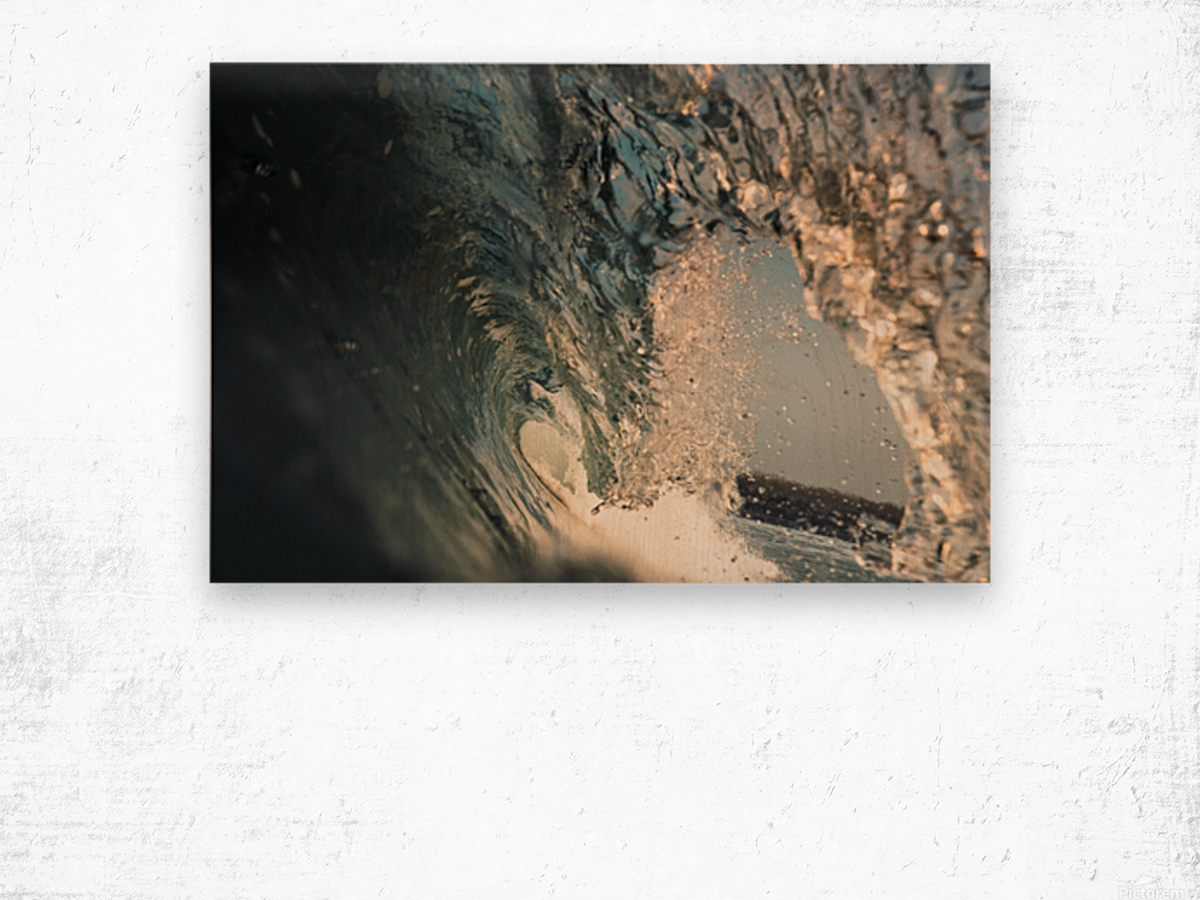 Crystal wave Wood print