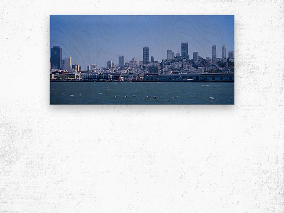 Blue Skies over San Francisco  Wood print