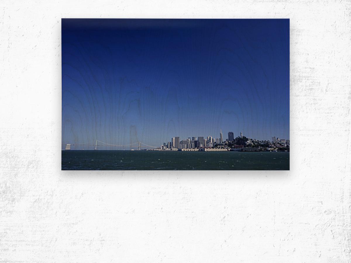 The Bay @ San Francisco Wood print