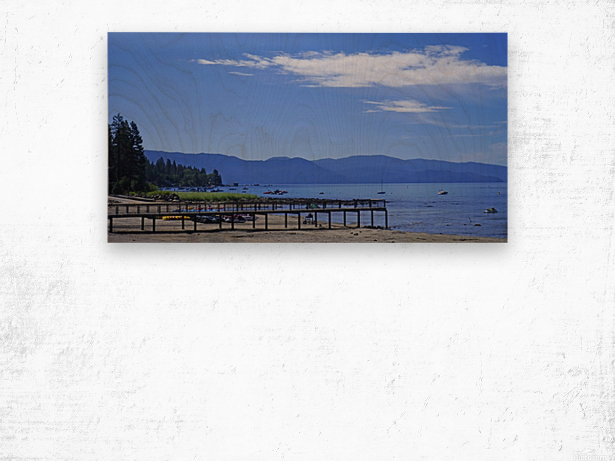 Spring at Lake Tahoe 1 of 7 Wood print