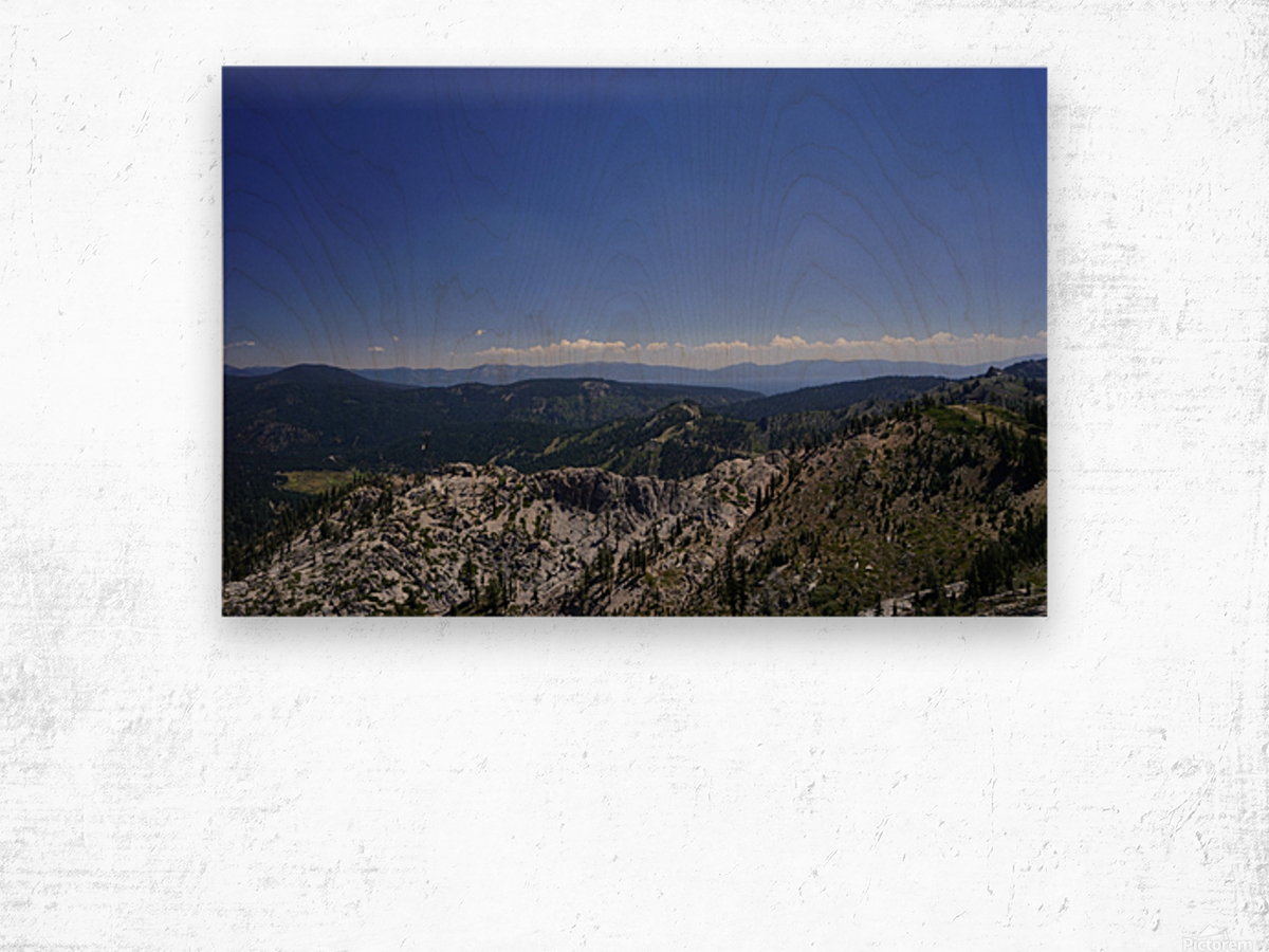 View from the Top @ Lake Tahoe Wood print