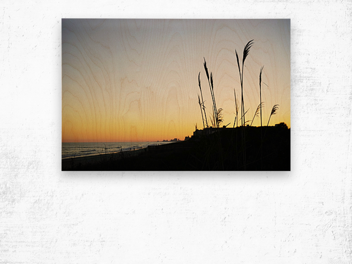 Atlantic Sunset @ Myrtle Beach Wood print