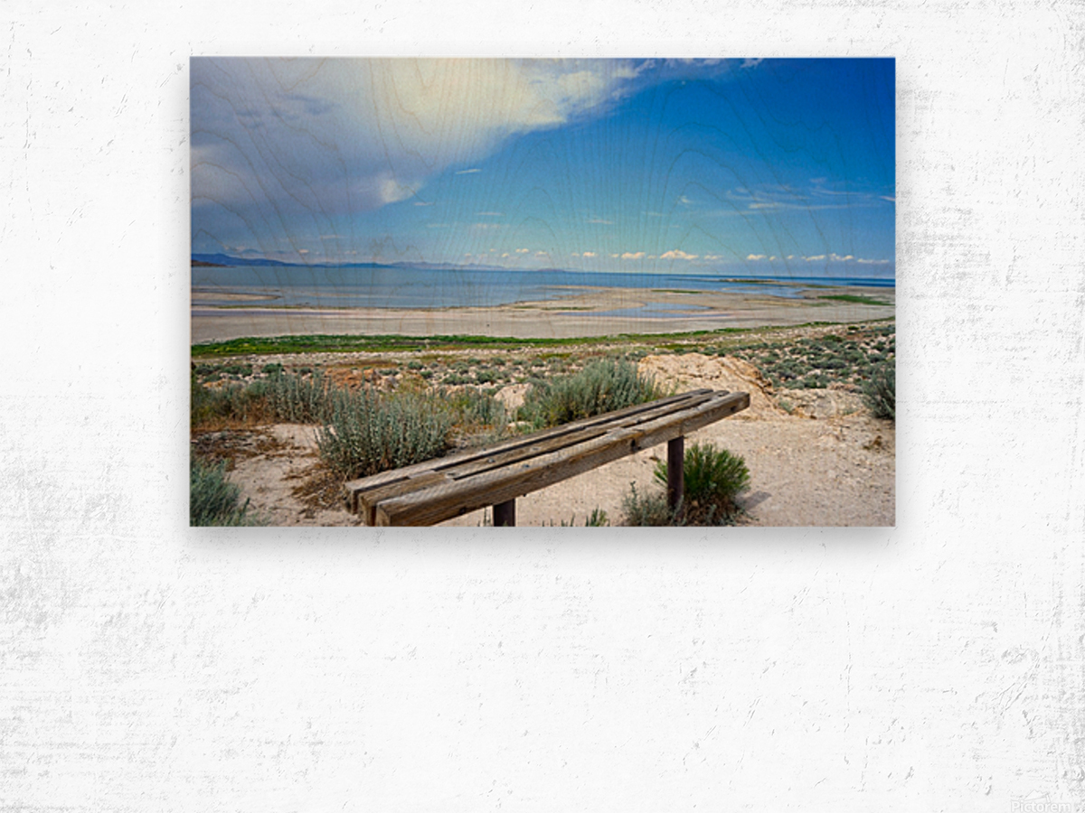 The Great Salt Lake 1 of 7 Wood print
