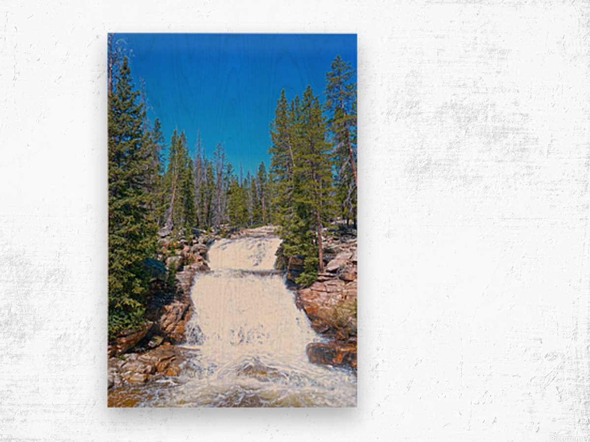 On The Road to Mirror Lake 1 of 5 Wood print