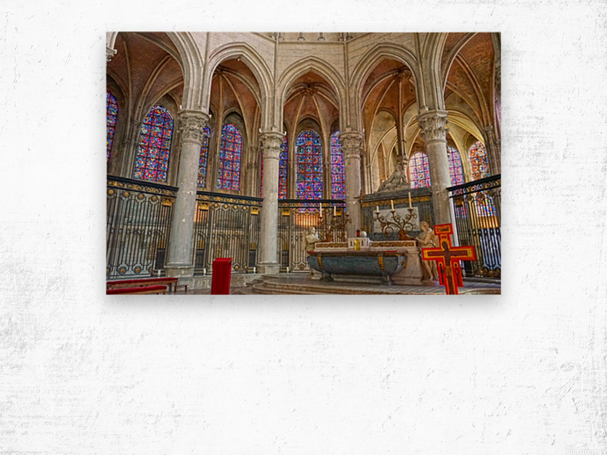 Immortal Cathedrale Saint Etienne 5 of 6 Wood print