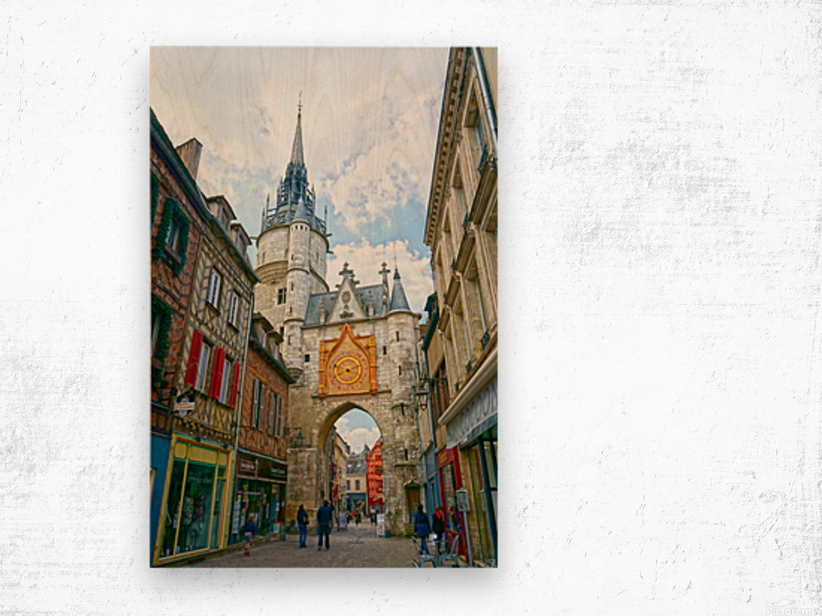 Auxerre France Snapshot in Time Wood print