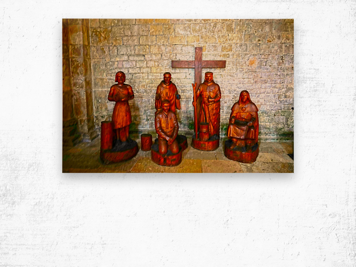 Basilica of Sainte Marie Madeleine 5 of 5 @  Vezelay France Wood print