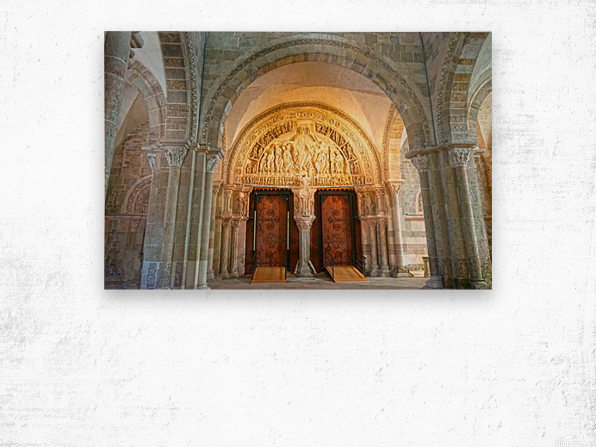 Basilica of Sainte Marie Madeleine 3 of 5 @  Vezelay France Wood print