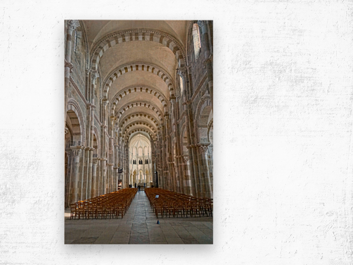 Basilica of Sainte Marie Madeleine 4 of 5 @ Vezelay France Wood print