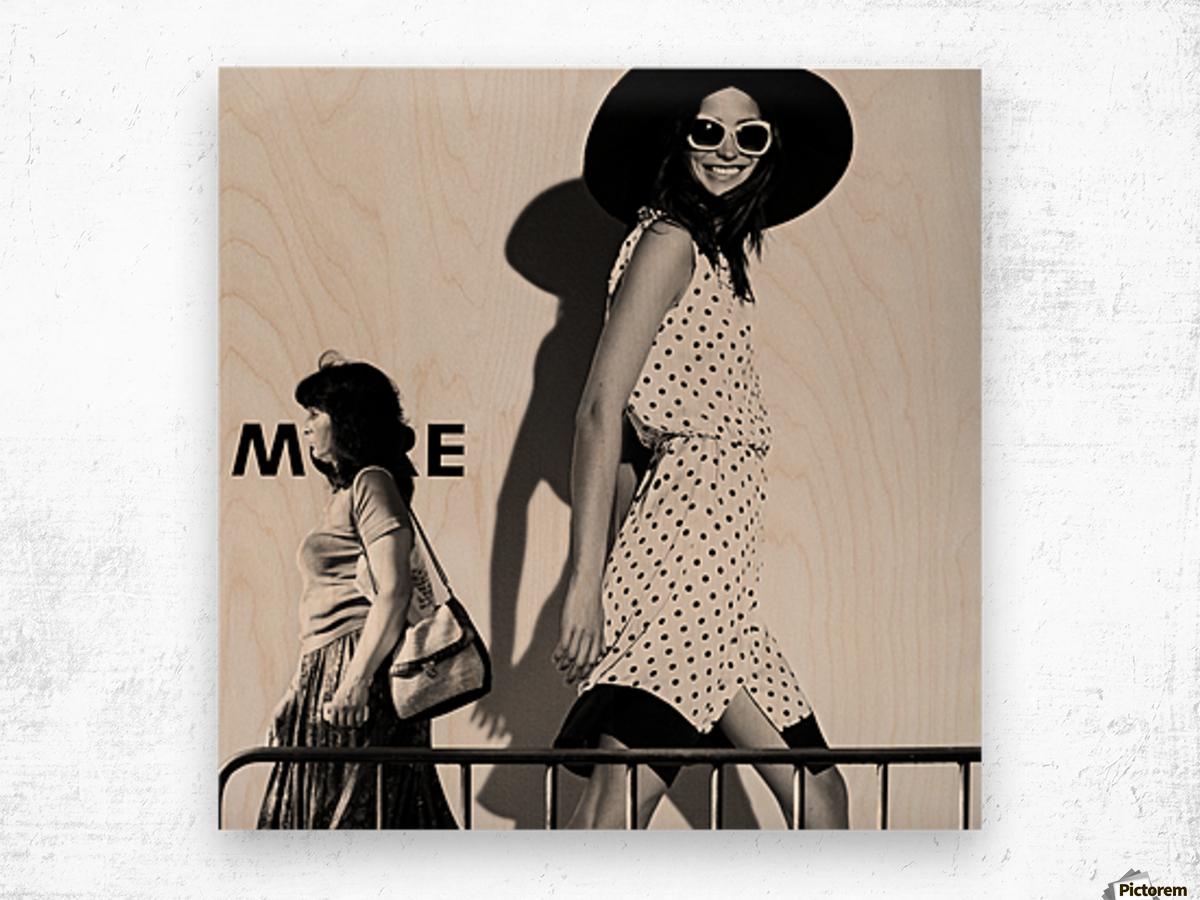 ME and My Expectations by Bobby Kostadinov  Wood print