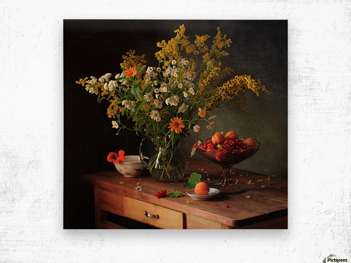 flower by   Wood print