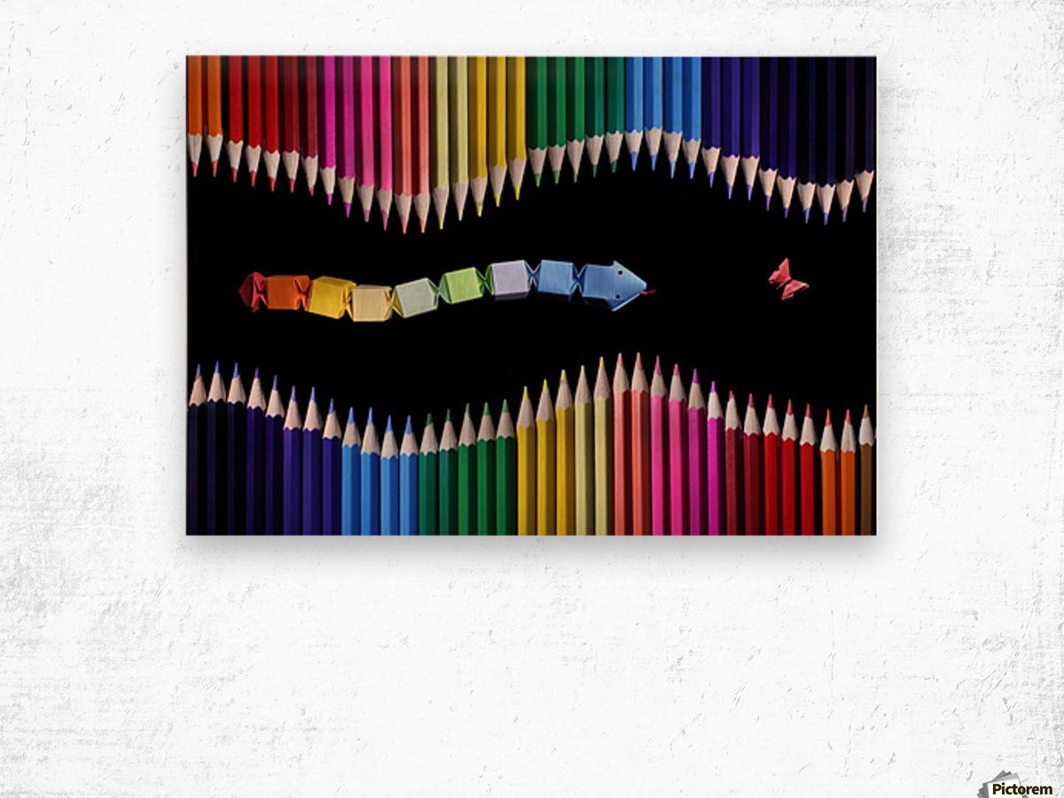 The Snake Game by Victoria Ivanova  Wood print