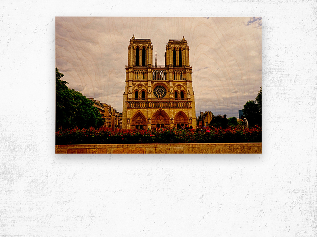 Jeanne d Arc and Saint Croix Cathedral at Orleans   France 1 of 7 Wood print