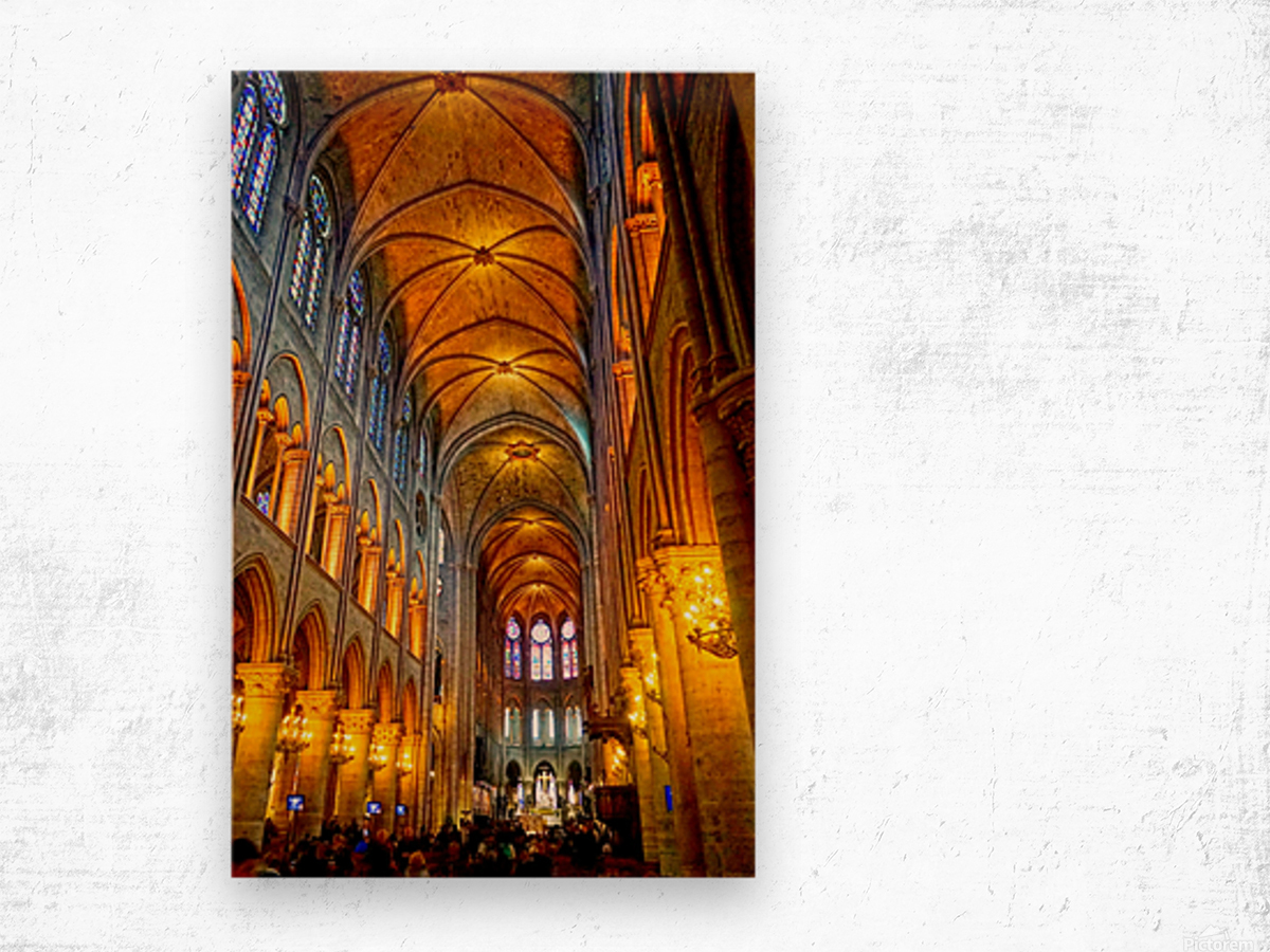 Jeanne d Arc and Saint Croix Cathedral at Orleans   France 2 of 7 Wood print