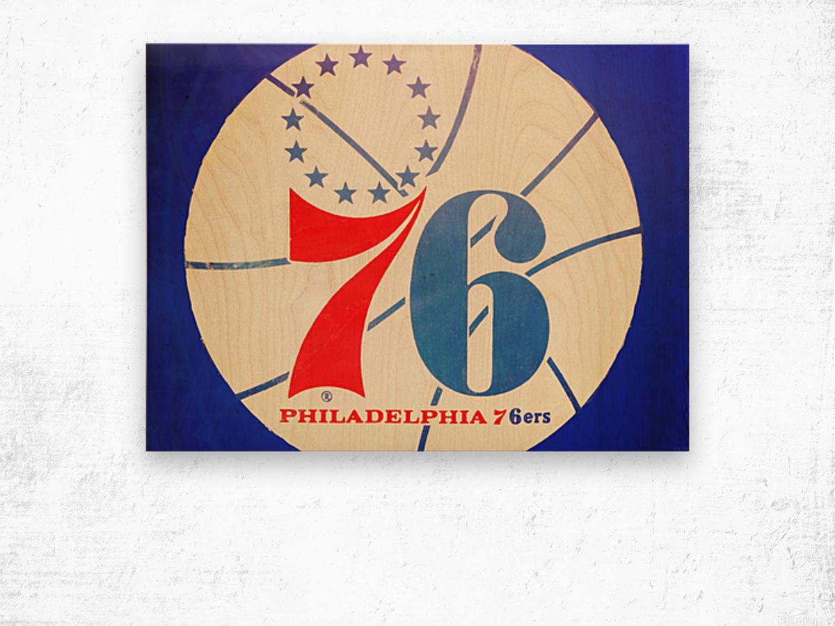 Vintage Philadelphia 76ers Art Wood print