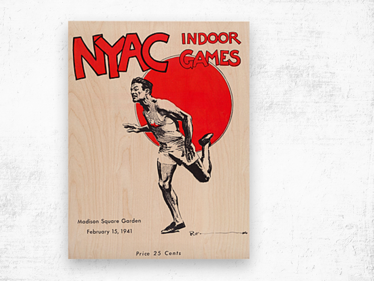 1941 New York Indoor Games Wood print