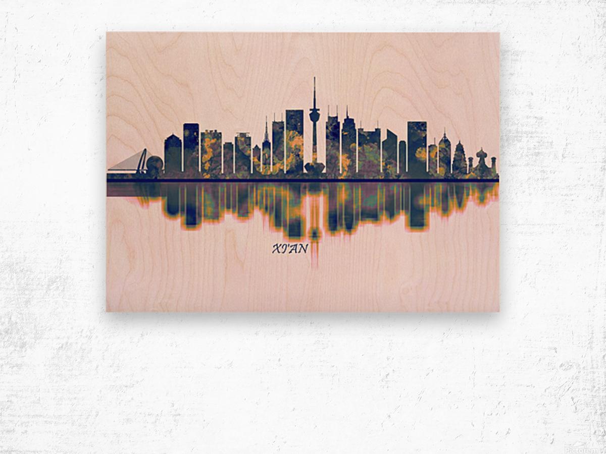 Xian Skyline Wood print