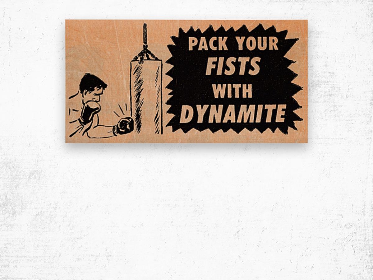 1957 boxing art  Wood print