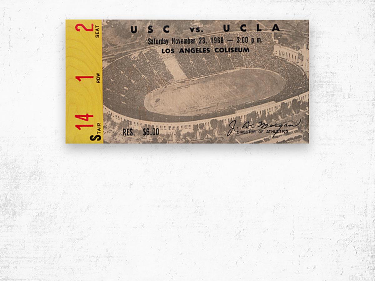 1968 UCLA vs. USC Wood print