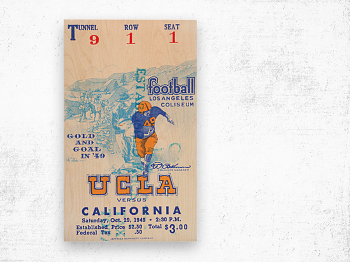 1948 UCLA vs. California Wood print