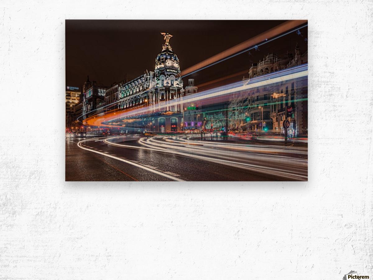 Madrid Traffic Wood print
